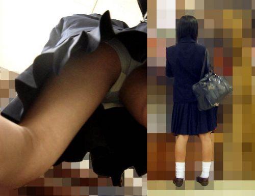 JKのスカートの中がエロ過ぎて思わず勃起しちゃう逆さ撮り盗撮画像 38枚 No.7