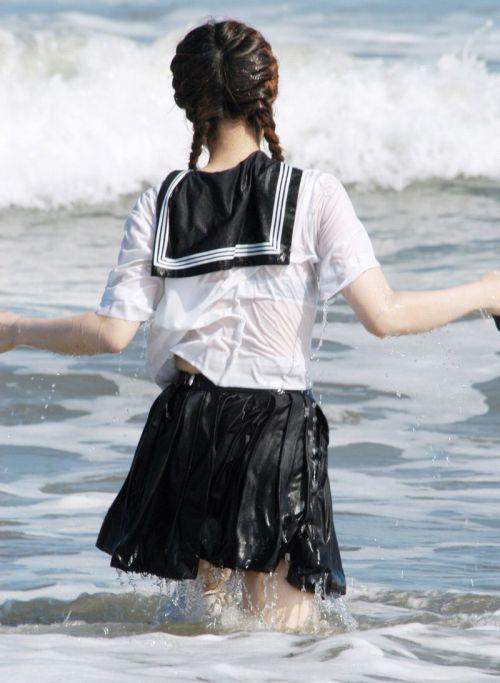 【画像あり】 透けブラ女子高生のエロ画像まとめたよ! 38枚 No.12