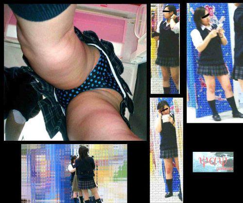 【盗撮画像】どんだけ近くで撮るの?女子高生のパンティ逆さ撮りまとめ 36枚 No.14