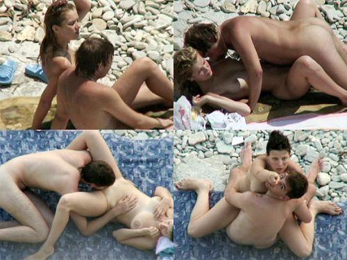 【海外】外人がビーチで野外セックスしちゃってるエロ画像見ちゃう? 36枚 No.26