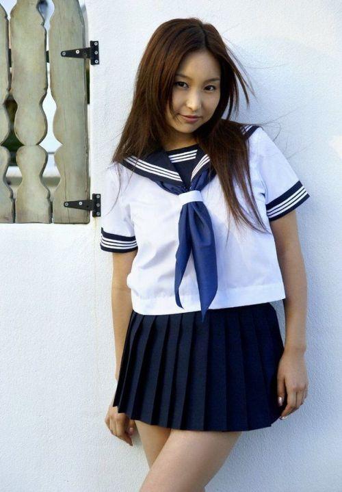 【画像】笑顏もスタイルもモデル級に可愛いJKをまとめ 38枚  No.35