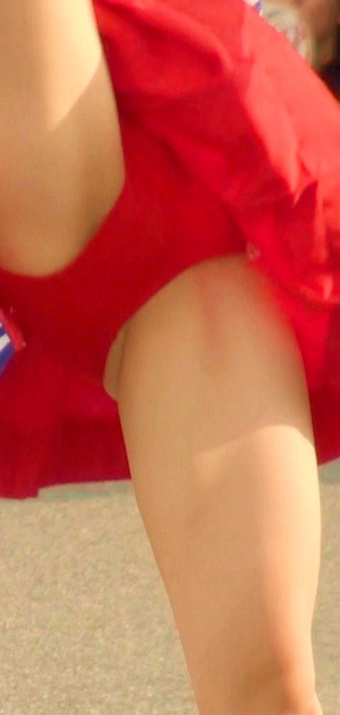 【チアガール エロ画像】パフォーマンス中に股間しか見てませんが何か? 39枚 No.8