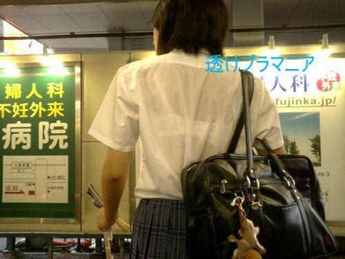 【画像】女子高生の透けたブラジャーの色が濃いとエロランジェリー状態 35枚 No.14