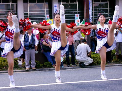 【勃起速報】チアガールって股間の魅せ方を争う競技だよな! 55枚 No.24
