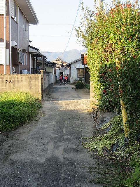 集団登校出発 27.10.23
