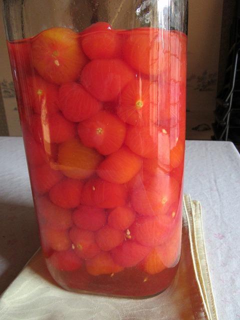 ミニトマト便利で酢に 27.10.24