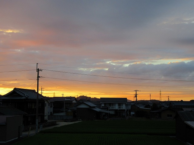 夕焼け西の空 27.8.26