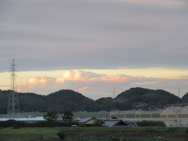 鳥坂方面夕焼けアップ 27.8.26