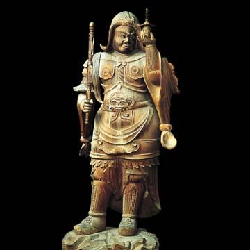檪野寺・木造毘沙門天立像
