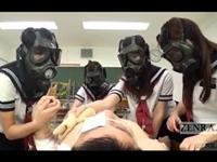 ガスマスク セーラーJKたちにイジイジされる!