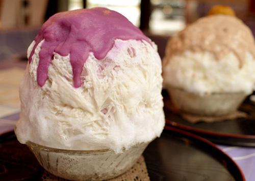 【かき氷】雪うさぎ「紫芋ココナッツ」