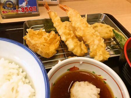 海老鶏天定食