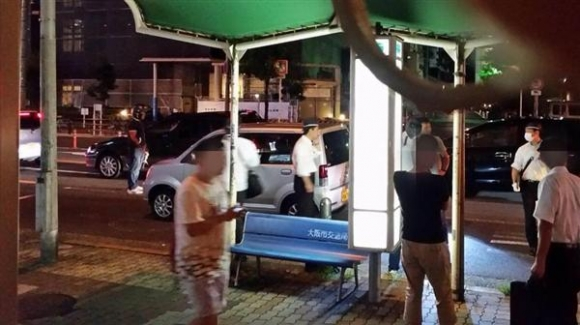 山田浩二容疑者が取り押さえられた現場
