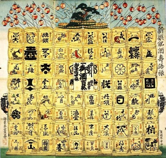 『新撰銘酒寿語禄』梅素亭玄魚 画 文久元年(1861)