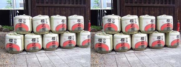 櫻正宗記念館「櫻宴」④(交差法)