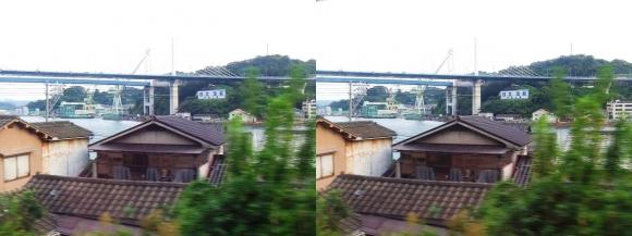 尾道車窓風景③(交差法)