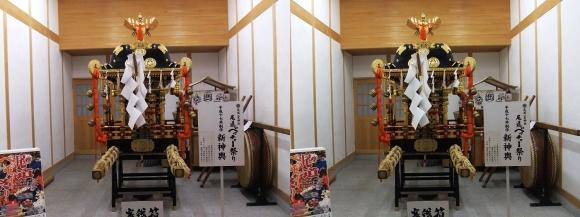 尾道ベッチャー祭り御旅所 新神輿(交差法)