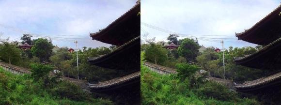 天寧寺三重塔と千光寺(平行法)