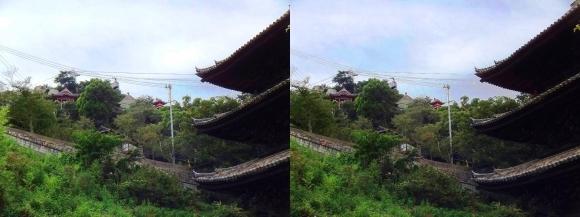 天寧寺三重塔と千光寺(交差法)