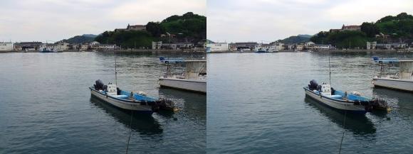 尾道からの向島(平行法)