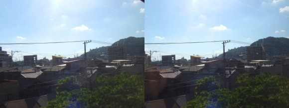 尾道車窓風景①(交差法)