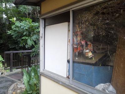 廃屋の窓に…