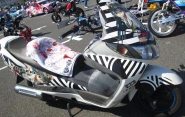 艦これ Kan-colle 榛名ハルナHARUNA艦娘 痛バイク痛スクーター スズキ・スカイウェイブ(SKYWAVE)250cc、400cc、650ccバーグマン(BURGMAN)TypeS、SS、M 痛Gふぇすた in お台場 2015「痛車グラフィックス」