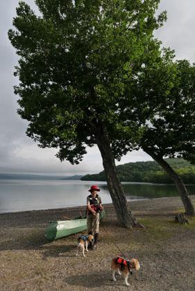 104湖上散歩終了