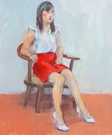20150902001 赤いミニスカート