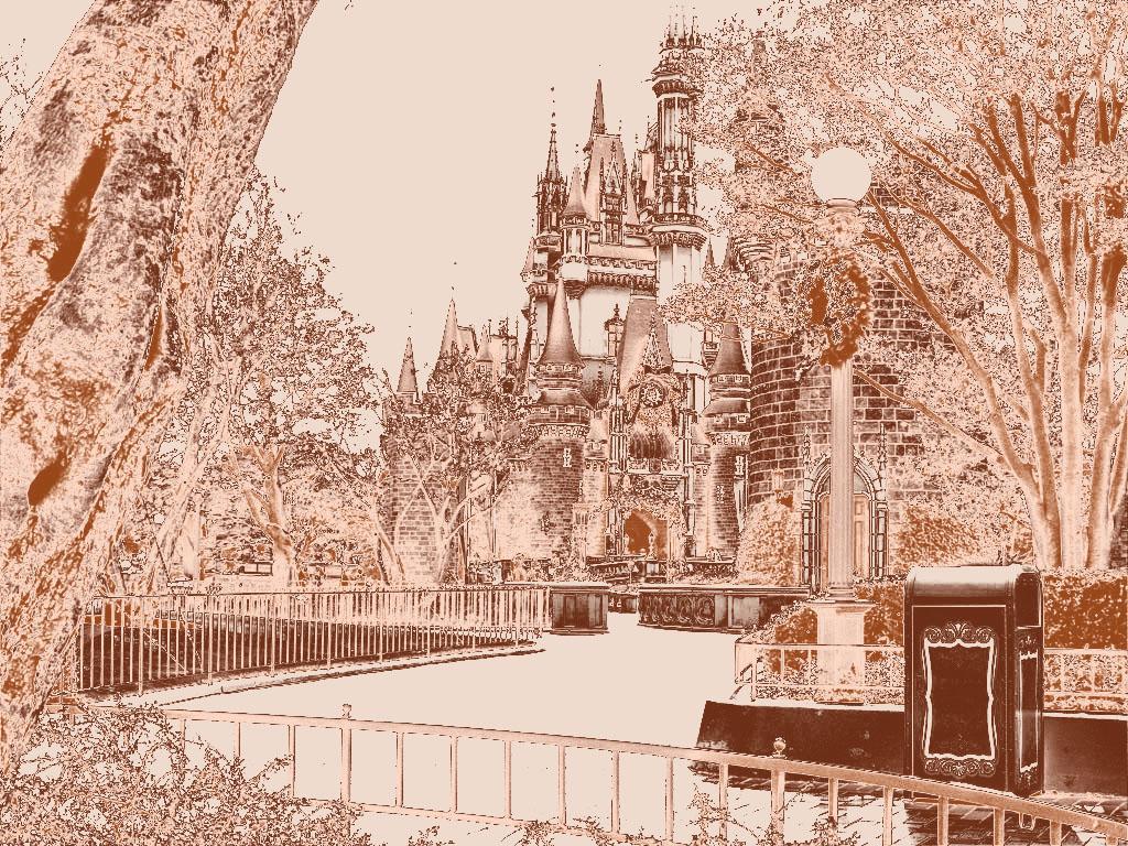 銅板画の世界(シンデレラ城)