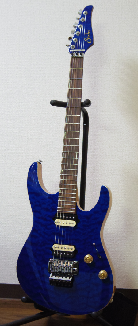 Suhr_Modern_Trans_Blue_Front