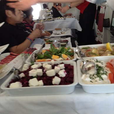 機内の前菜