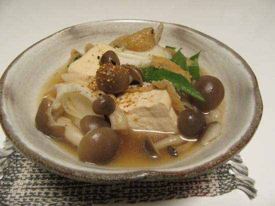 そば湯de揚げ出さない豆腐