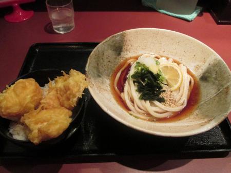 鶏玉天丼セット