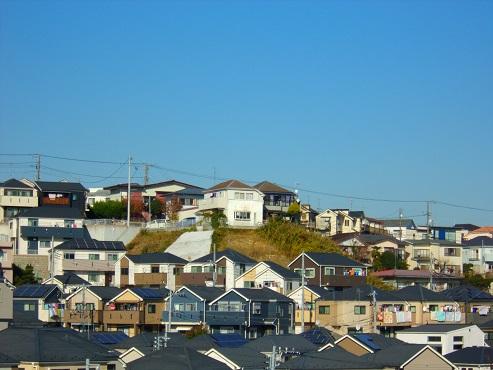 斜面の家々@横浜市南区