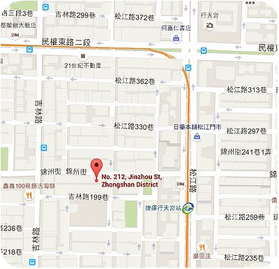 劉媽媽涼麵地図