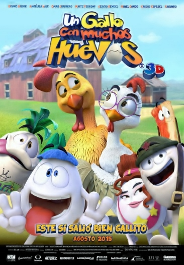 Gallo con Muchos Huevos Poster