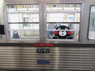 熊本電鉄窓くまモン