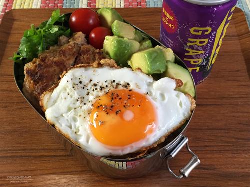 鴨肉ハンバーグのロコモコ丼弁当01