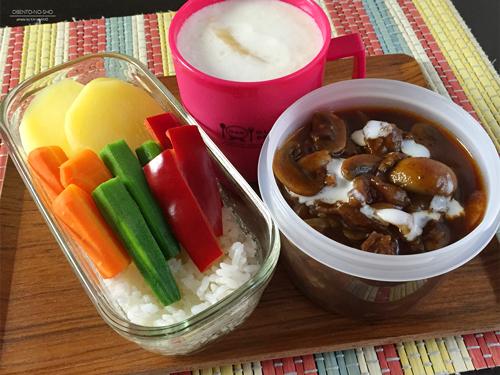 蒸し野菜&牛スジのハヤシライス弁当01