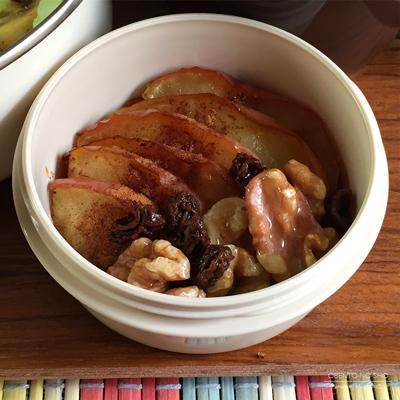 カレーピラフ&ココナッツオイルの焼き林檎弁当03