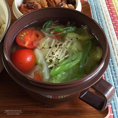 茄子と甘長唐辛子のピリ辛うどん弁当03