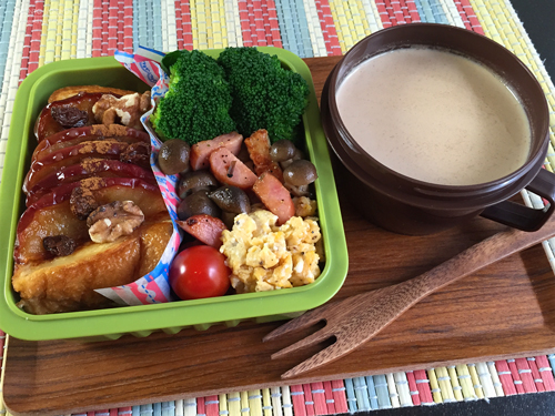 焼き林檎のフレンチトースト弁当01