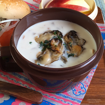 サーモンベーグル&焼き牡蠣のクラムチャウダー弁当03