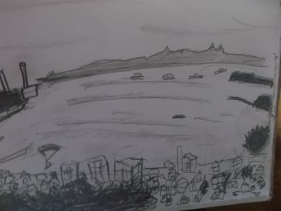 三浦海岸の絵
