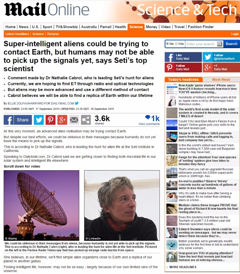 【地球外生命体】太陽系外から「10のシグナルが届く...場所は5ヶ所」定期的に発信されたものか?