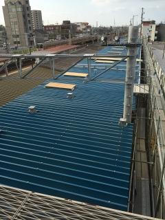 岡崎駅 愛知環状鉄道 ホーム拡幅工事