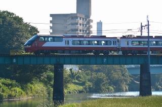 名鉄 菅生川橋りょう 1200系 パノラマスーパー