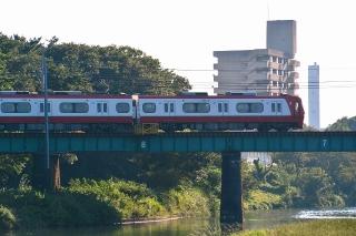 名鉄 菅生川橋りょう 1200系