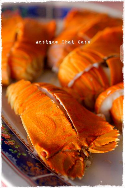 パタヤ Pattaya พัทยา タイ料理 Thaifood อาหารไทย 蒸しセミ海老 กั้งนึ่ง